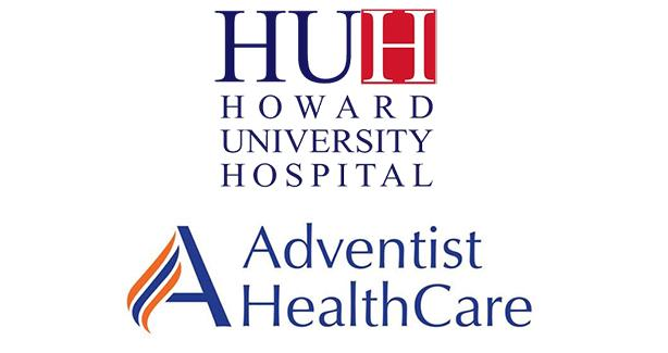 Howard University Hospital and Adventist HealthCare logos