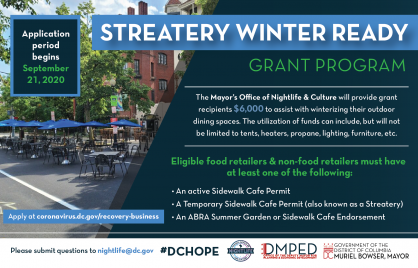 Streatery Winter Ready Grants