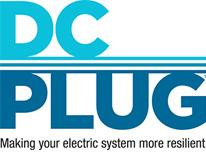 "DCPLUG logo with a tagline reading ""Making your electric system more resilient."""